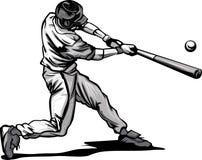 batter бейсбола ударяя вектор тангажа изображения Стоковое Фото