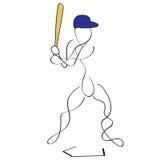 batter бейсбола Стоковое Изображение RF