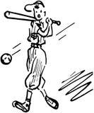 batter бейсбола предпосылки иллюстрация вектора