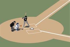 batter вверх иллюстрация вектора