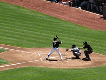 Batter in batters box waiting on pitch Stock Images