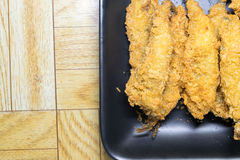 Batter fried fish in egg Stock Photos