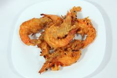 Batter fried prawns Stock Images