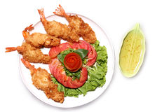 Batter-fried prawns Royalty Free Stock Photography