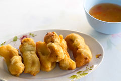 Batter fried prawns Stock Photography
