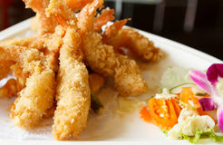 Batter-fried prawns Stock Image