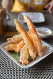 Batter fried prawns Oriental style Stock Photography
