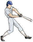Batter swing Stock Images