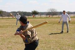 Batter at vintage baseball Stock Photo