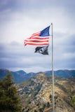 Battered American Flag Stock Images