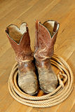 Battered Boots Royalty Free Stock Photos