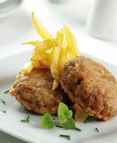 Battered burgers Royalty Free Stock Images