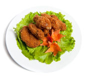 Battered chicken wings on a plate Royalty Free Stock Photography
