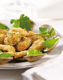 Battered clams Stock Image