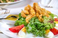Battered deep fried calamari Stock Image