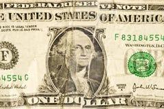 Battered Dollar Bill Stock Photo