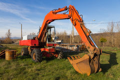 Battered Excavator Royalty Free Stock Image