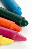 Battered old colored crayons Royalty Free Stock Images