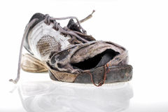 Battered old sneakers Stock Images