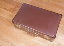 Battered old suitcase Stock Image