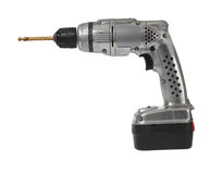 Battered retro battery drill Royalty Free Stock Image