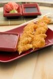 Battered shrimp Stock Photography