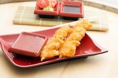 Battered shrimp Stock Photo
