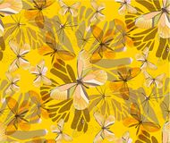 Batterfly gold patterns seamless. Colourfull patterns seamless with butterflies and blots Royalty Free Stock Images