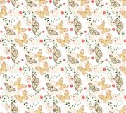 Batterfly gold patterns seamless. Patterns seamless with butterflies and blots design  s. batterfly gold patterns seamless Stock Photos