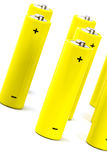 Batteri alcalino giallo Fotografia Stock Libera da Diritti