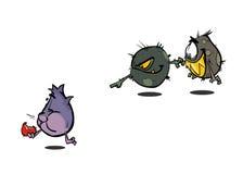 Batteri del germe del virus illustrazione di stock