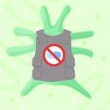 Batteri di resistenza degli antibiotici del Superbug illustrazione di stock
