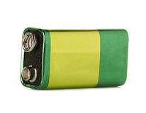 batteri isolerad white Arkivfoton