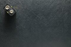 Batteri på mörk plats Arkivfoton