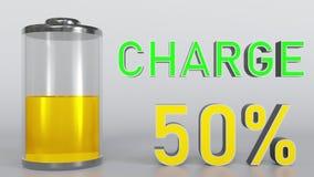 Batteri som får lågt stock illustrationer