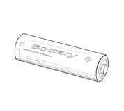Batteri - vektorillustration Royaltyfri Fotografi