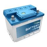 Batteria automobilistica isolata Fotografie Stock