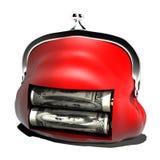 Batteria che carica i soldi del riempimento pulverulento Immagine Stock Libera da Diritti