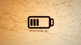 Batteria che carica l'illustrazione dell'icona, potere ricaricabile co di energia Fotografia Stock