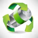 Batteria che ricicla concetto Fotografia Stock Libera da Diritti