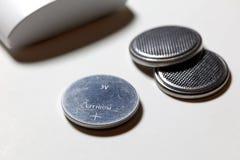 Batteria d'argento delle cellule del bottone Fotografie Stock Libere da Diritti