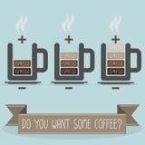 Batteria del caffè illustrazione vettoriale