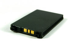 Batteria del telefono mobile Fotografie Stock