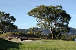 Batteria di bluff del canguro, Bellerive, Hobart, Tasmani Immagine Stock Libera da Diritti