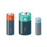 Batteria isolata del cilindro illustrazione di stock