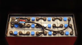Batteria per il carrello elevatore Fotografia Stock