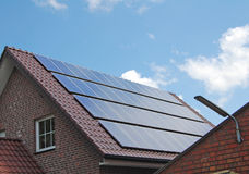 Batteria solare Immagine Stock Libera da Diritti