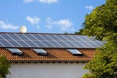 Batteria solare Fotografie Stock
