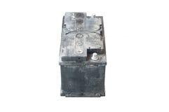 Batteria utilizzata su backgrond isolato Fotografia Stock