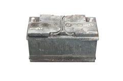 Batteria utilizzata su backgrond isolato Immagini Stock Libere da Diritti